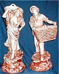 Click here to enlarge image and see more about item POCS822: Mar-Wal Peasant Farm Couple Figures