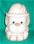 Click here to enlarge image and see more about item POCS842: Small Monkey Cookie Jar