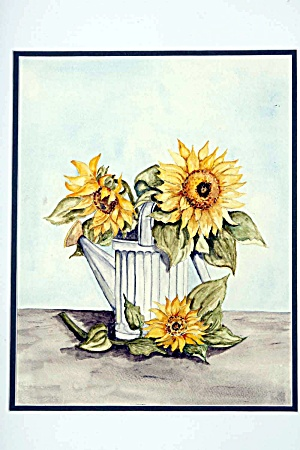Sunflowers In A Wateringcan
