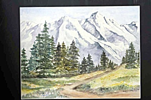 Snowcapped Mountain - Watercolor Painting (Image1)