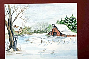 Farm in the Snow (Image1)