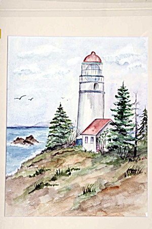 Lighthouse with birds (Image1)
