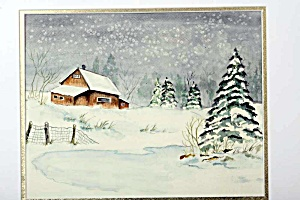 Snowy day at the farm (Image1)