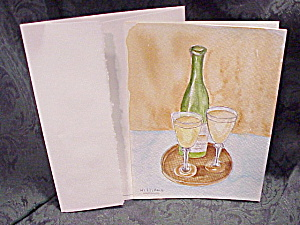 HANDPAINTED watercolor greeting or note card (Image1)
