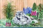 Click to view larger image of Garden Waterfall and flowers (Image2)