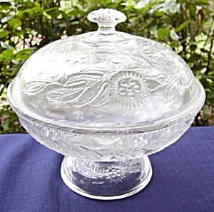 Windflower Low Standard Covered Compote (Image1)