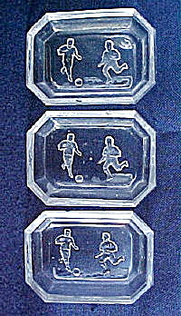 Soccer Players Intaglio Salts