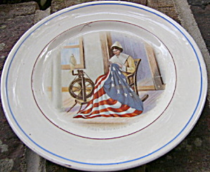 Betsy Ross Pottery Plate (Image1)