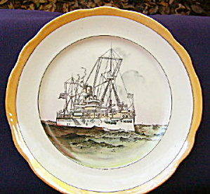 USS Maine Pottery Plate (Image1)