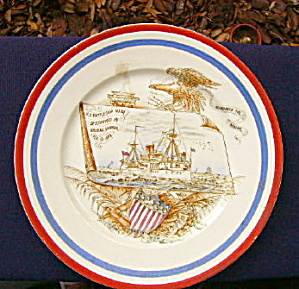 US Maine Pottery Plate (Image1)