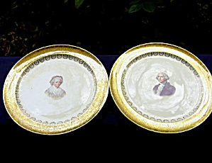 George & Martha Washington Plates (Pair)