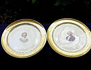 George & Martha Washington Plates (pair) (Image1)