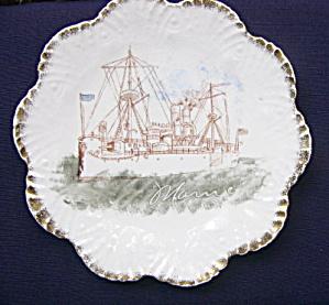 USS Maine Pottery Plate (Image1)