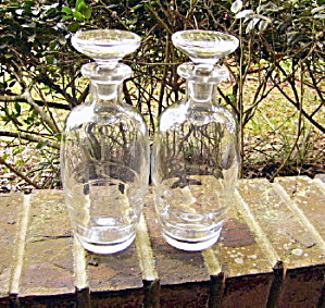 Modern Era Pair Blown Bottles