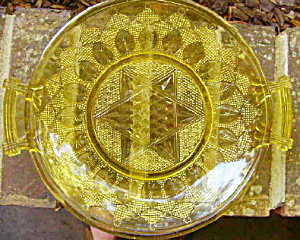 Palmette Variant Bread Plate Amber (Image1)