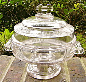 Two Band Covered Compote