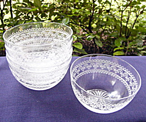 Fruit/Finger Bowls � Blown, Cut, Etched (5)	 (Image1)