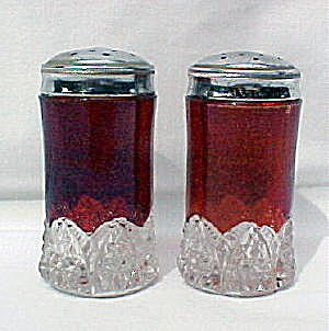 Ruby Button Arches Saltshakers (pair) (Image1)