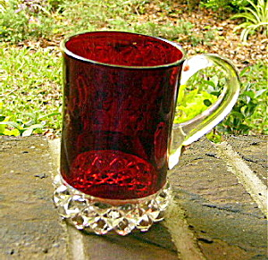Pavonia Ruby Stained Mug