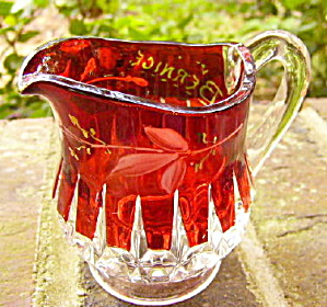 Cordova Individual Ruby Stained Creamer (Image1)