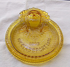 Glassport  Indian Amber Pin Tray (Image1)