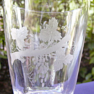 Grapes and Sunburst Wheel Cut Goblet (Image1)