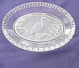 Frosted Stork Oval Bowl (Image1)