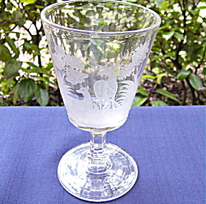 Etched Buck and Doe Goblet	 (Image1)