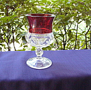 Ruby Thumbprint Goblet Auburn, NY (Image1)