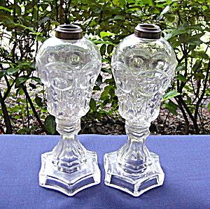 Bull's Eye and Fleur-de-Lis Lamps (pair) (Image1)