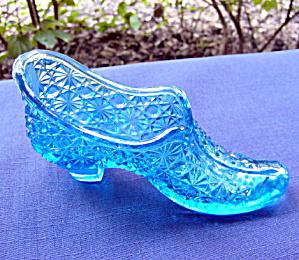 Sapphire Blue Duncan Glass Shoe (Image1)