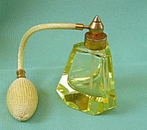 Vaseline Glass Perfume Atomizer (Image1)