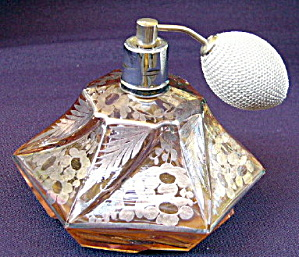 Silver Overlay Glass Perfume Atomizer (Image1)
