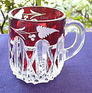 Eapg Triple Triangle Ruby Mug
