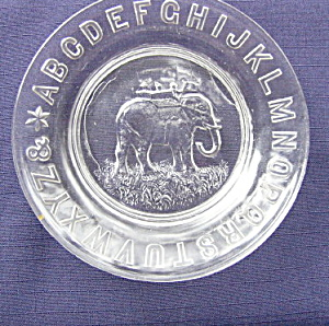 ABC Elephant Plate    (Image1)