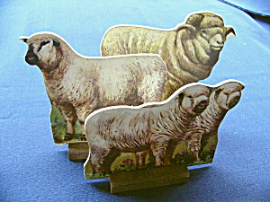 Toy Cardboard Lithographed Sheep  (3) (Image1)