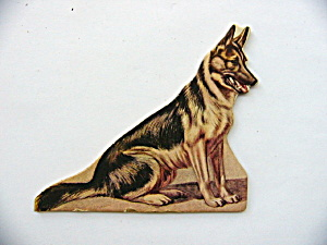 Toy Cardboard Lithographed German Shepherd (Image1)