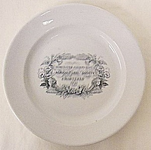 Worcester Cty Agricultural Society ironstone plate (Image1)