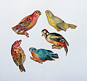 Victorian Die-cut Birds