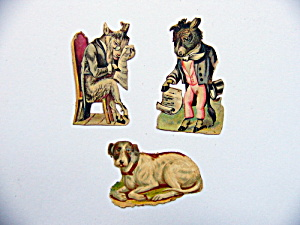 Victorian Die-Cut Characters and Dog (Image1)