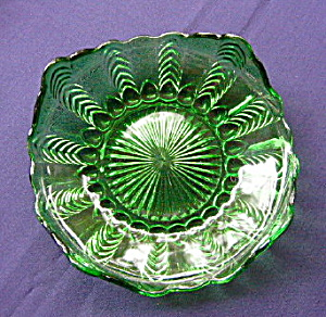 Florida Emerald Green Herringbone Plate
