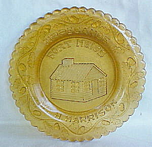 Fort Meigs Amber Plate (Image1)