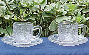 Cup And Saucer Sets - Ivy In Leaves Pattern