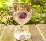 Click here to enlarge image and see more about item 129G: Knobby Bulls Eye Goblet