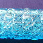 Click to view larger image of Cut Glass Blue Talcum Bottle (Image3)