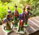 Click here to enlarge image and see more about item 235C: Napoleonic Grenadier Figurines (set of 4)
