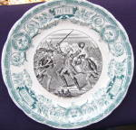 Click here to enlarge image and see more about item 242A2: Sarreguemines Battle Series Plate