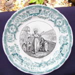 Click to view larger image of Sarreguemines Ste. Genevieve Battle Plate (Image1)