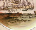 Click to view larger image of USS Maine Pottery Plate (Image3)