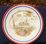 Click here to enlarge image and see more about item 285E: US Maine Pottery Plate